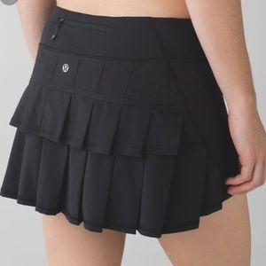 Lululemon Pleated Pace Setter Black Skirt 2